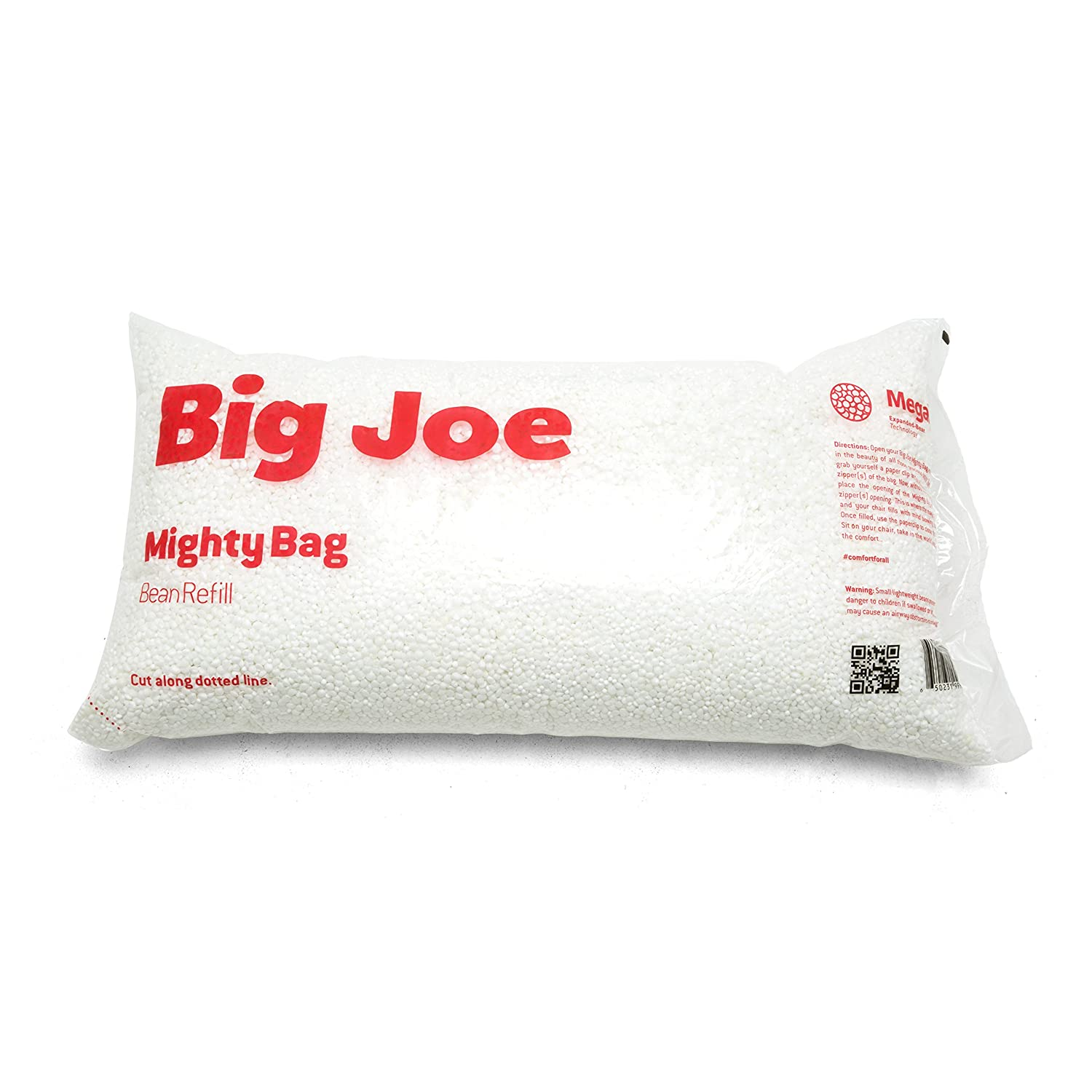 Big Joe Comfort Research Megahh UltimaX Bean Bags Refill, 100 L, White –