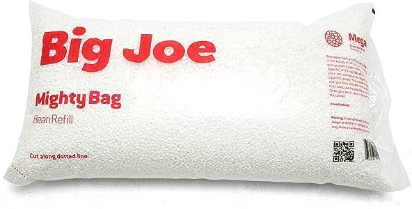 Big Joe Comfort Research Megahh (UltimaX) Bean Bags Refill, 100 L, White -