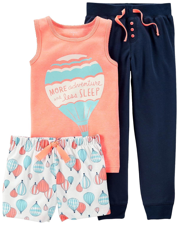 f9049502ad Amazon.com  Carter s Little Girls  3 Piece Pajamas Set Air Balloons   Clothing