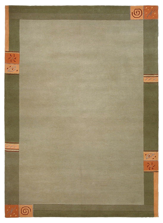 TEPPICHWELT SONA-LUX Nepal Teppich handgeknüpft grün