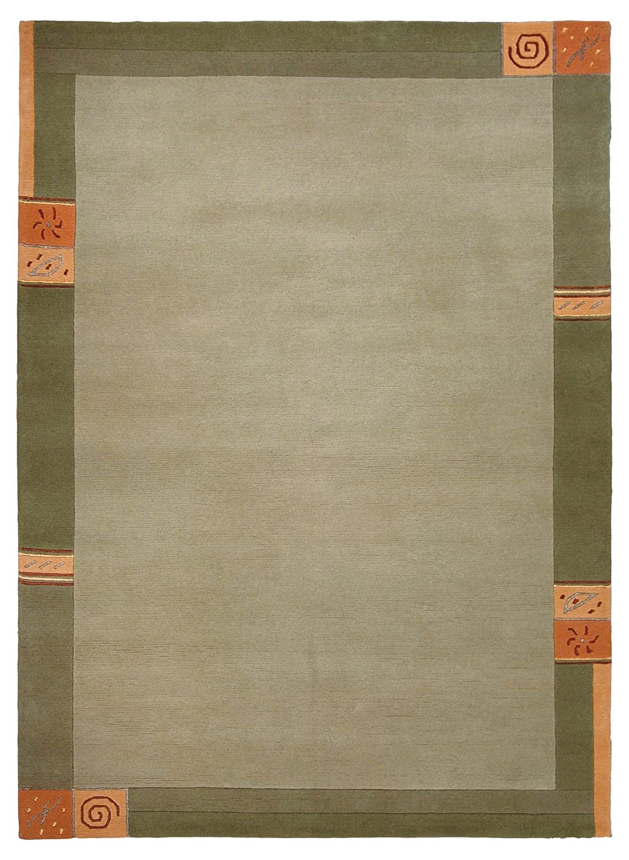 Luxor Living Nepal Teppich handgeknüpft grün