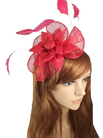 Chapter 78 Boutique Red Sinamay Corsage   Ruffle Fascinator - Occasion  Wedding Races ac498b2dd41