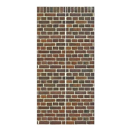 Montare Tende A Pannello.Bilderwelten Tende Scorrevoli Set Brick Wallpaper London Maroon