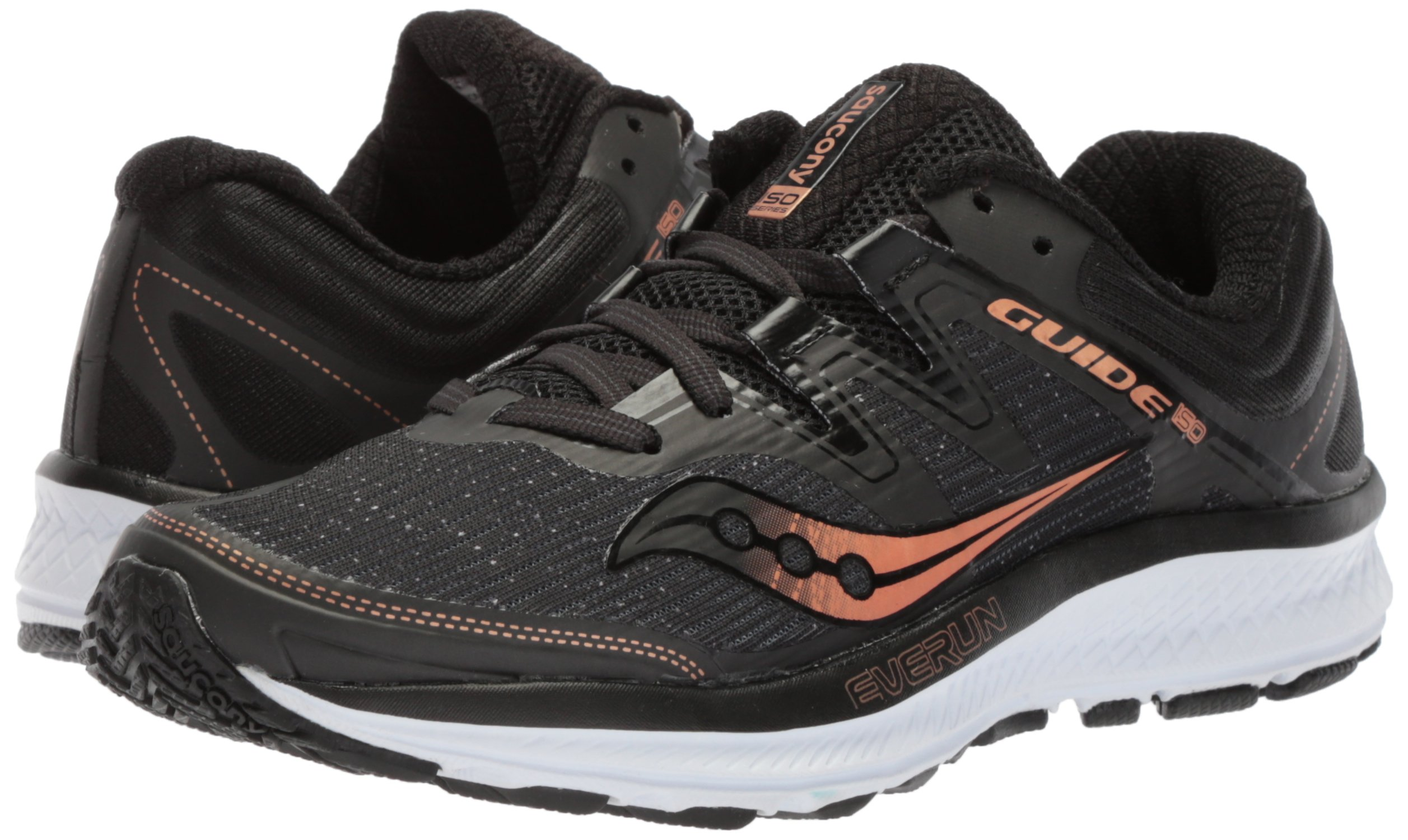 Saucony Women's Guide Iso Running Shoe, Black/Denim, 10.5 Medium US by Saucony (Image #6)