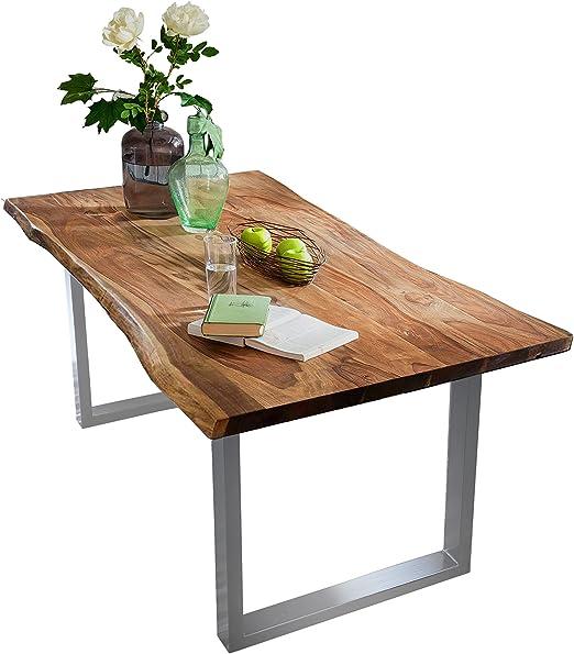 SAM® Elegante Mesa de Comedor Quarto 180 x 90 cm, Color Nogal ...