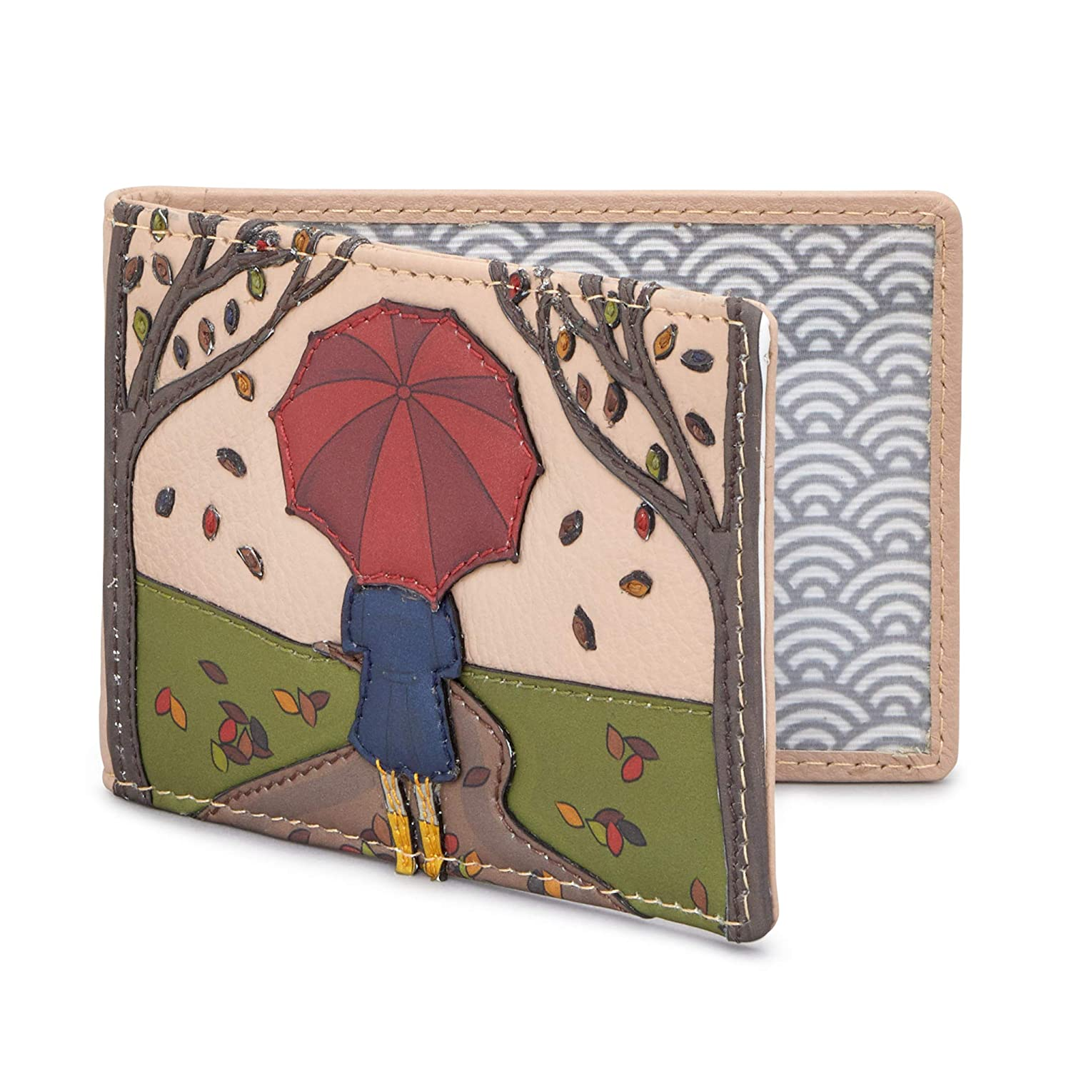 Autumn Girl Leather Travel Pass Holder by Yoshi