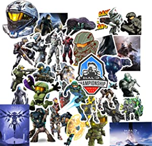 Kilmila The Master Chief Collection Stickers [50 pcs] Pack Decals for Laptop Water Bottle Bike Car Motorcycle Bumper Luggage Skateboard Graffiti