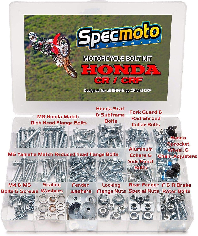 CR//CRF Model Series Dirt Bike CR CRF Specmoto Hardware Honda Bolt Kit 1996-present
