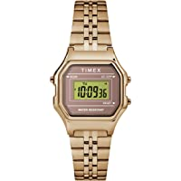 Timex Women's Classic Digital Mini 27mm Quartz Stainless Steel Strap, Rose Gold, 12 Casual Watch (Model: TW2T48300VQ)