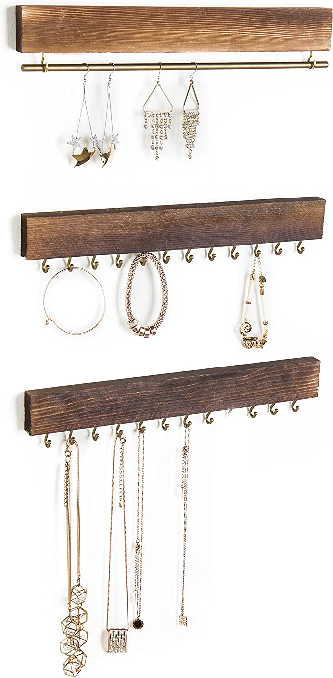 Stock Your Home Long Necklace Holder with 12 Hooks