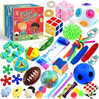 Sensory Toys Set 38 Pack, Stress Relief Fidget Hand Toys for Adults and Kids, Sensory Fidget and Squeeze Widget for…