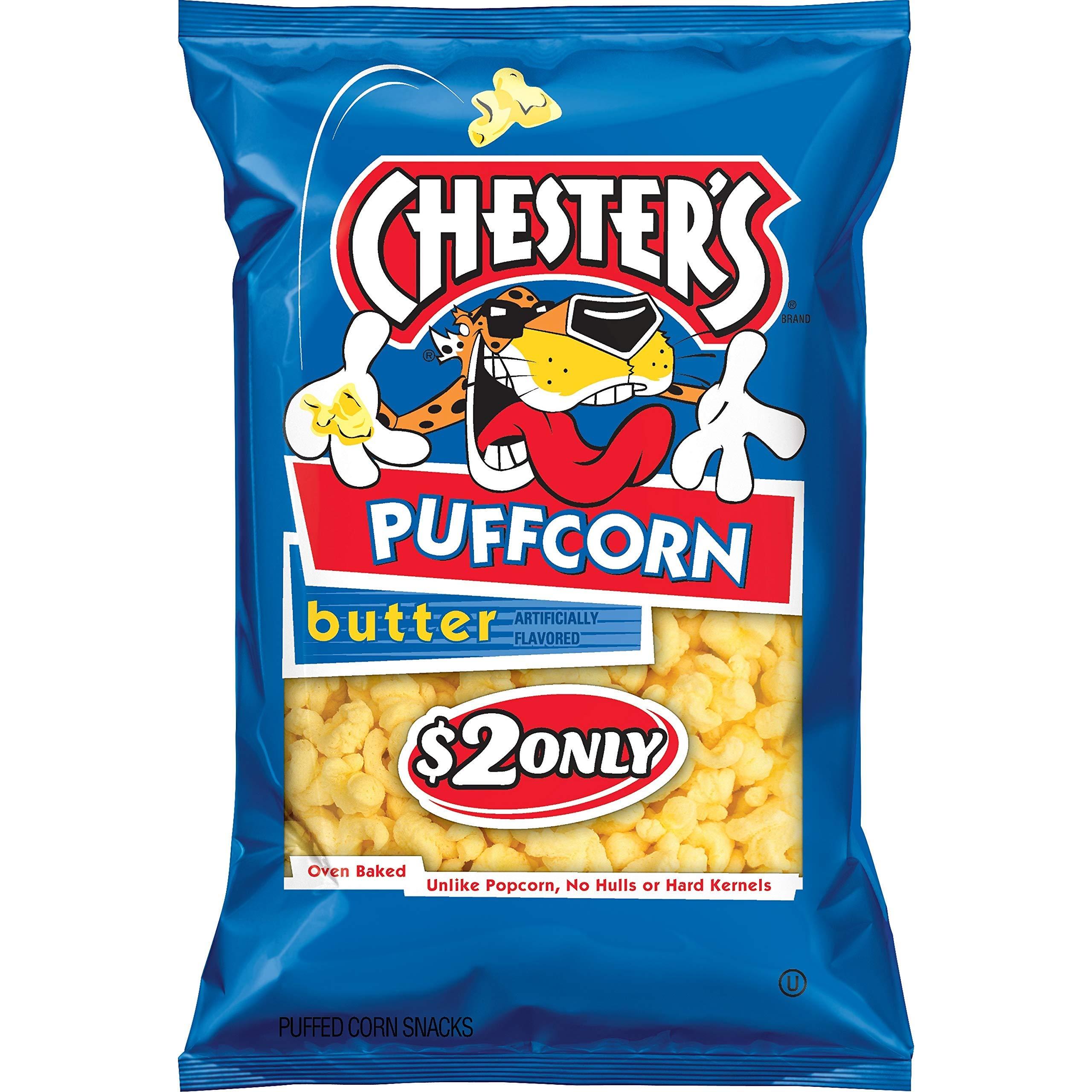 Chester's Puffcorn Butter Puffed Corn Snacks, 3.5 Oz (1 bag) - SET OF 4
