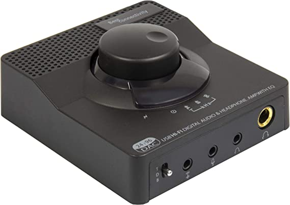 Syba Sonic 24bit 96KHz USB DAC Stereo Headphone Amplifier 2 Stage EQ Digital/Coaxial Output and RCA Output SD-DAC63116