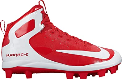 07c23e316c4a Nike Men s Alpha Huarache Pro Mid Baseball Cleats(Red White