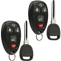 Key Fob Keyless Entry Remote with Ignition Key fits Chevy Suburban Tahoe Traverse/GMC Acadia Yukon/Cadillac Escalade SRX…