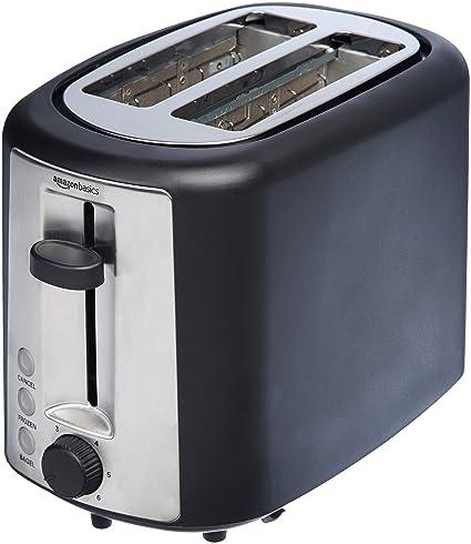 amazon com amazonbasics 2 slice toaster kitchen dining
