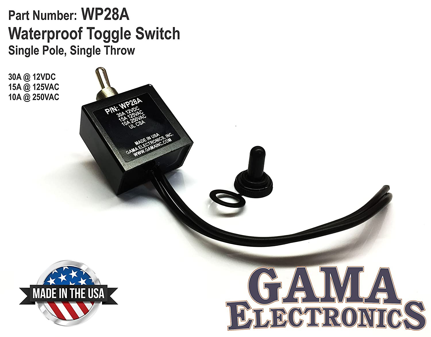 Gama Electronics Waterproof On Off Toggle Switch Automotive Spst Round Rocker Switches Relays