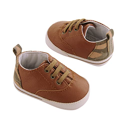 32531250a Amazon.com: Carter's Boys' Baby Soft Sole Sneaker 9 Crib Shoe, Tan ...