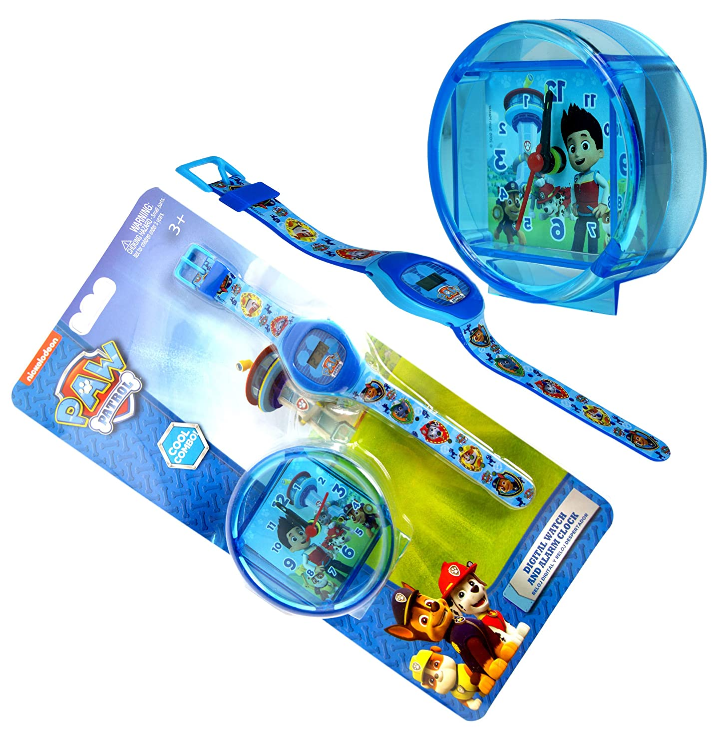 Amazon.com: Paw Patrol, Digital Watch & Alarm Clock Set Official Licensed: Home & Kitchen
