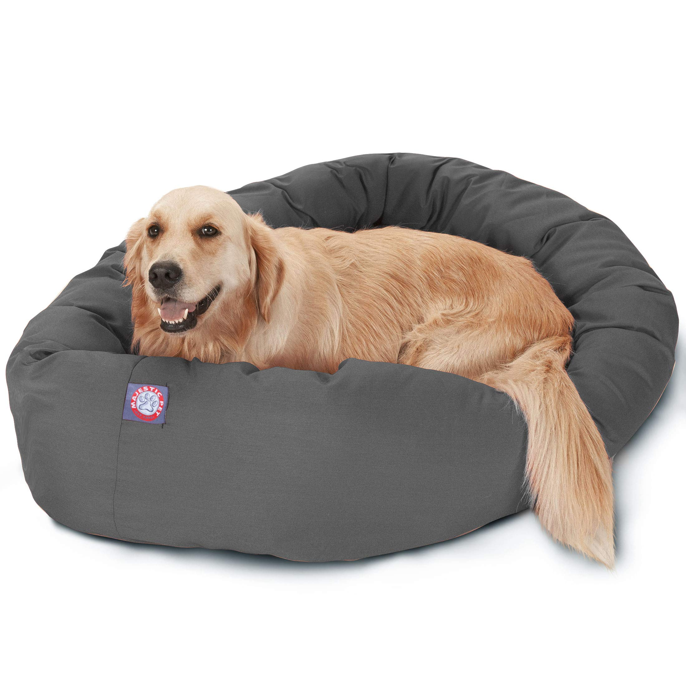 Majestic Pet 40'' Gray Bagel Dog Bed