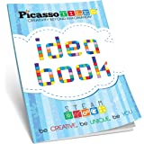 PicassoTiles STEM Learning Idea Book with Over 150+ Ideas 110 Pages of Unique Innovative Creations for Magnet Tile Building B