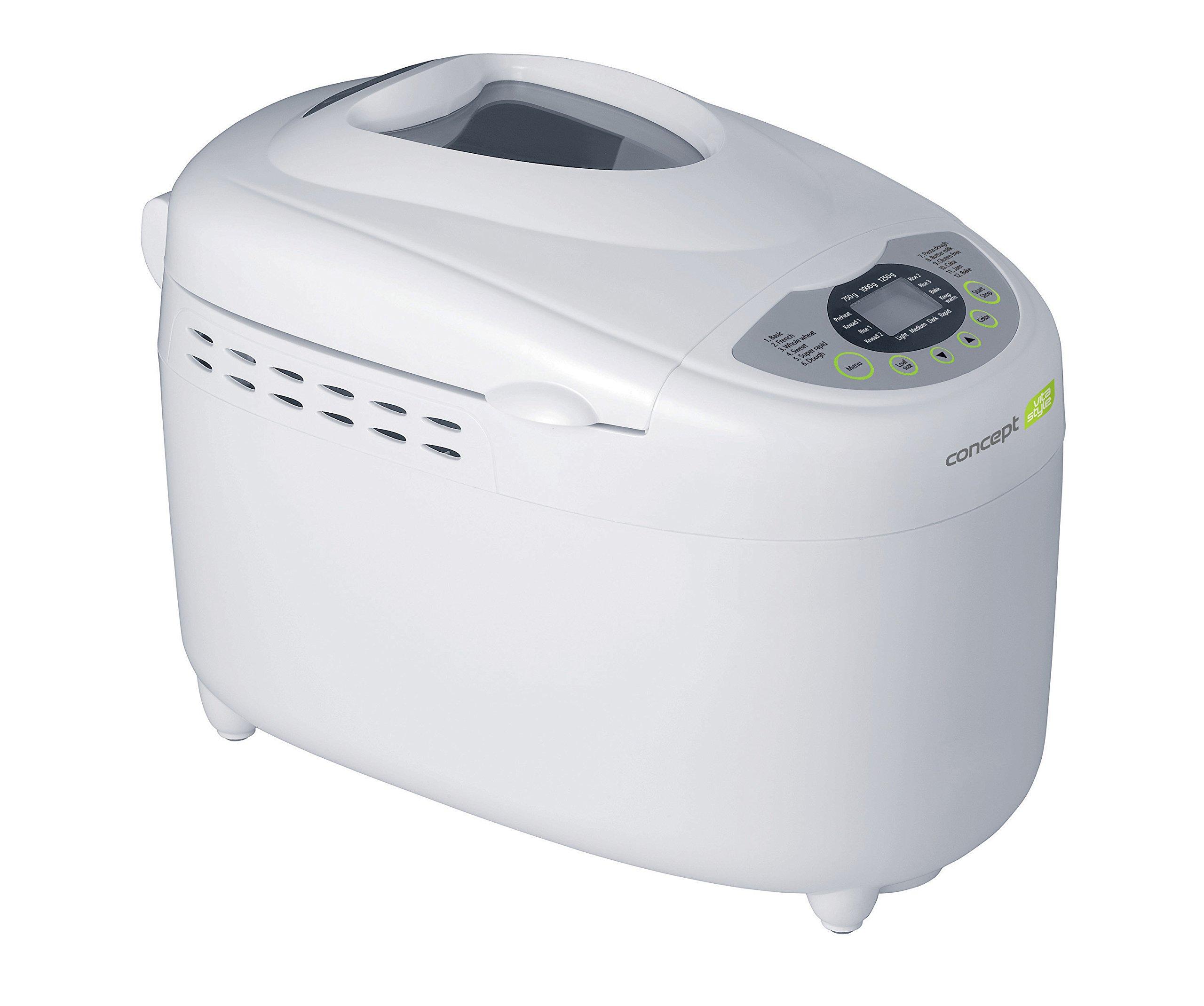 Concept Electrodomésticos PC-5040 Panificadora casera para el pan sin gluten 850 W, Plástico, Blanco product image