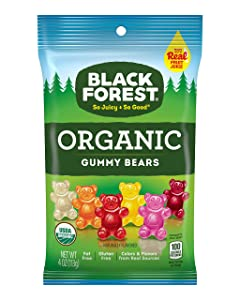 Black Forest Organic Gummy Bears Candy, 4 Ounce, Pack of 12