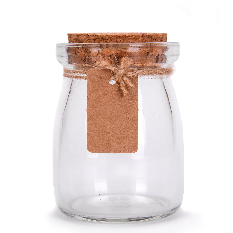 Amazon.com: Glass Favor Jars With Cork Lids - Mason Jar Wedding ...