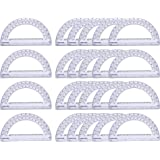 24 Pack Math Protractor Semicircle Plastic Protractors 180 Degrees for Angle Measurement Ruler Goniometer, 6 inches…