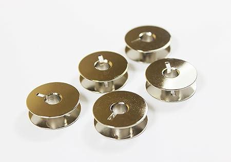 La Canilla ® - Pack de 5 Canillas Metálicas para Máquina de Coser ...