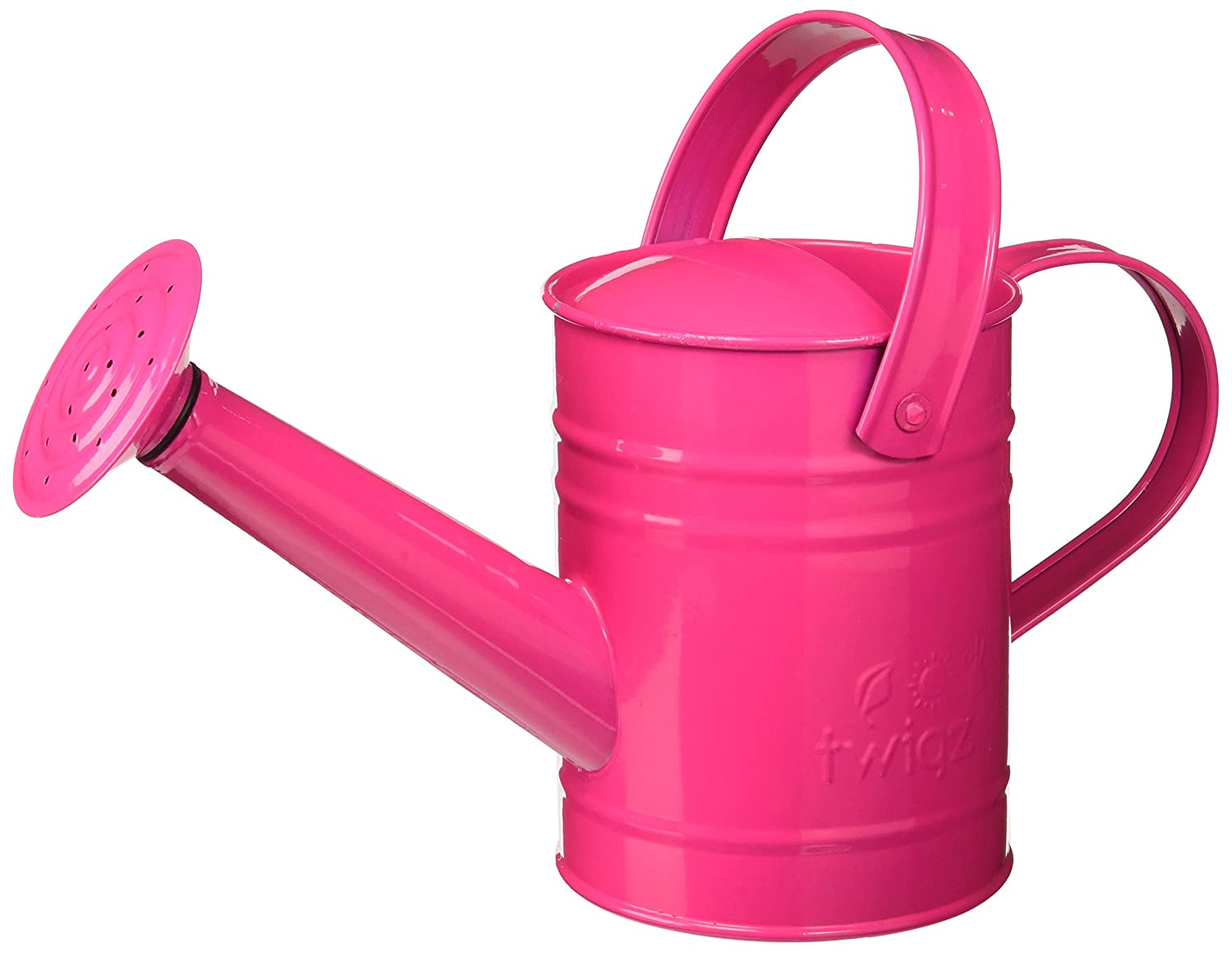 Amazon.com: Twigz Kids Gardening Watering Can   Steel   Pink: Toys U0026 Games