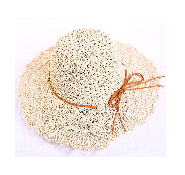Round Womens Summer Hat Hand Woven Wide Hats Female Sun Caps Foldable Bohemia Beach Hat