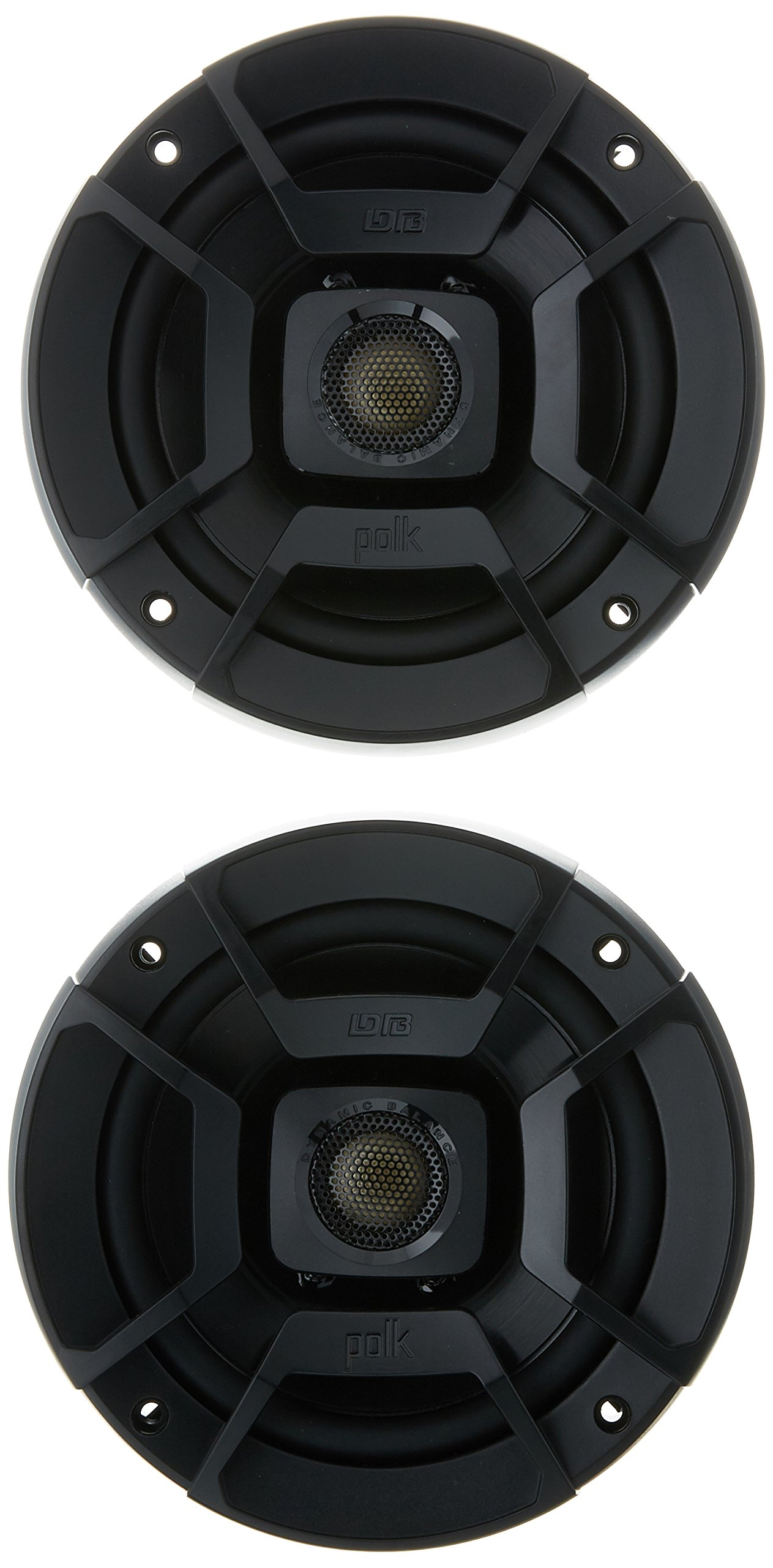 Polk Audio DB522 DB+ Series 5.25'' Coaxial Speakers with Marine Certification, Black by Polk Audio