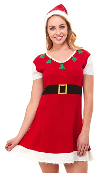 Women Christmas Sweater Dress.Just One Ugly Christmas Sweater Dress Xmas For Women Cute Reg And Plus Size
