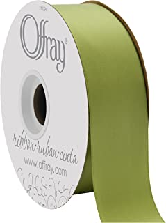 product image for Offray Double Face Satin Craft Ribbon, 1-1/2-Inch Wide by 50-Yard Spool, Lemon Grass