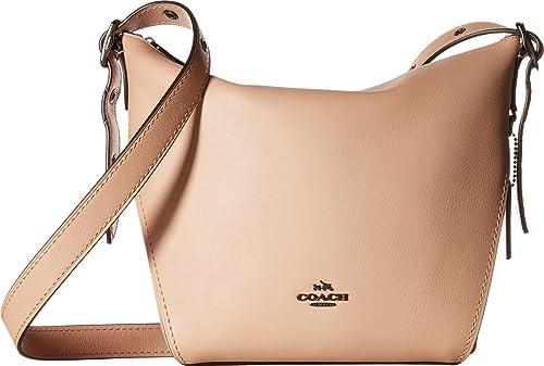 dfdb69e68816 COACH Women s Small Dufflette in Natural Calf Leather Dk Beechwood One  Size  Amazon.ca  Shoes   Handbags