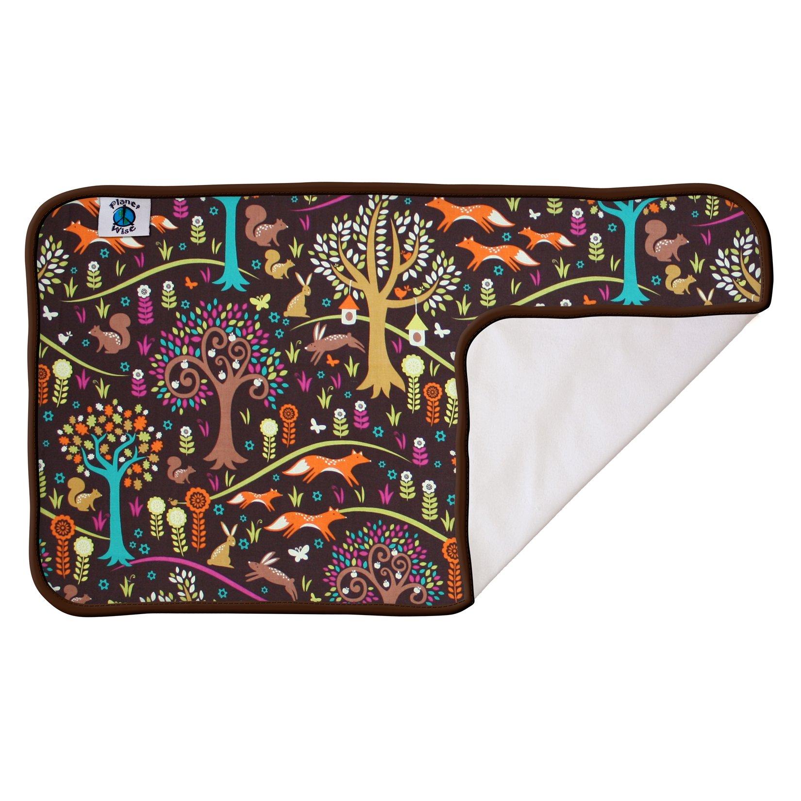 Planet Wise Designer Waterproof Pad, Jewel Woods