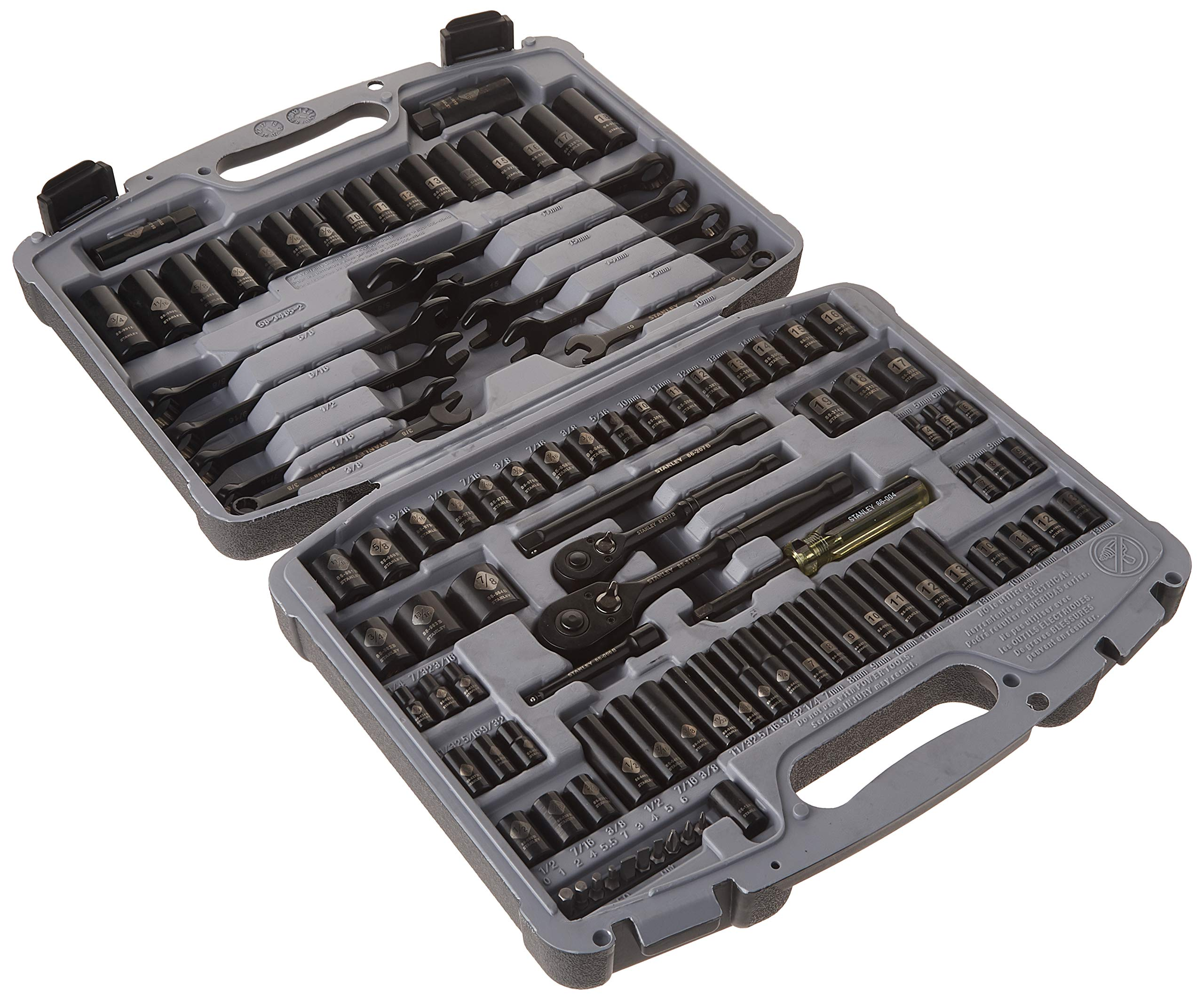 Stanley 92-839 Black Chrome and Laser Etched Socket Set, 99-Piece by Stanley