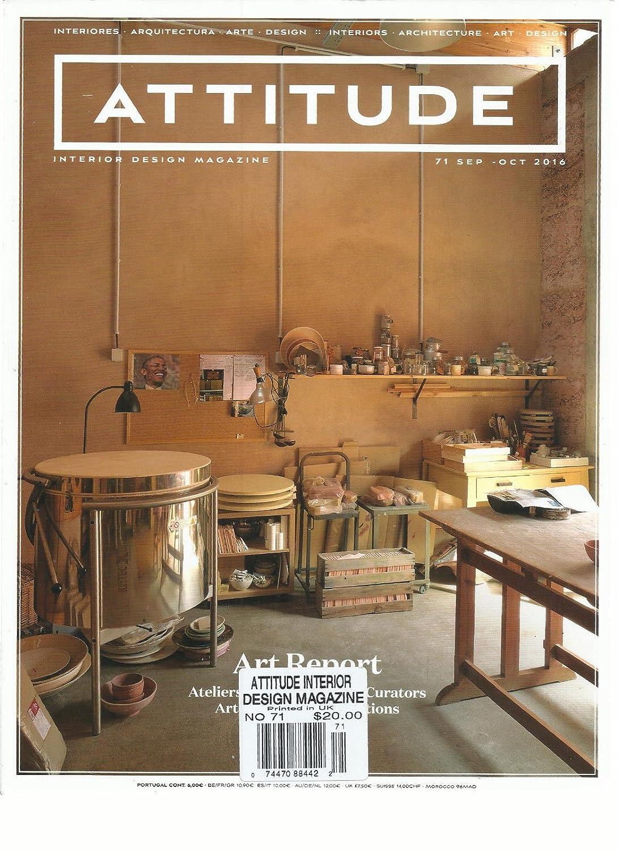 amazon com attitude interior design magazine art report september