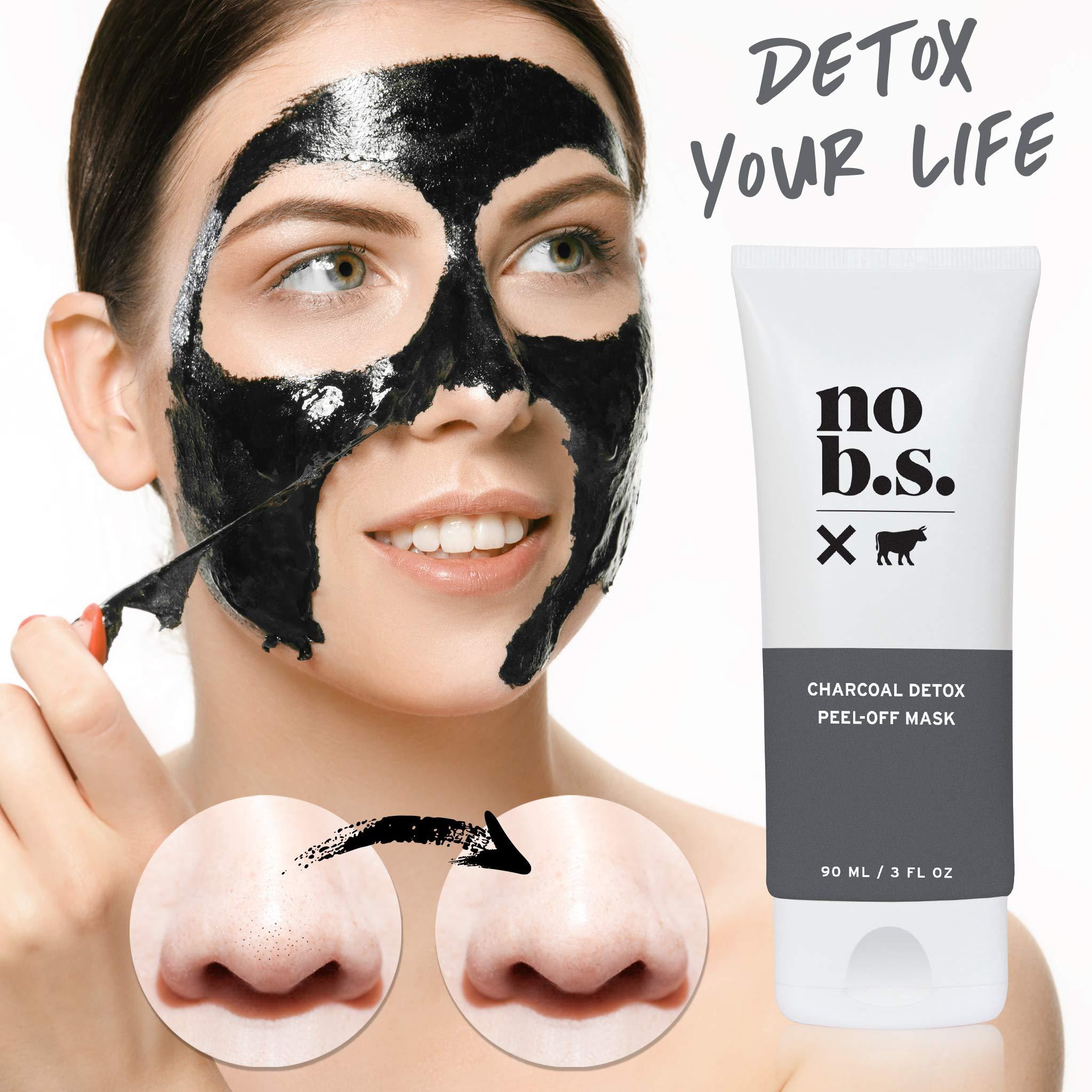 No B.S. Charcoal Peel Off Mask - No Hype, No Fad Deep Cleaning Blackhead Remover Mask