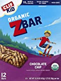 Clif Kid ZBAR - Organic Granola Bars - Chocolate Chip - (1.27 Ounce Energy Bars, Lunch Box Snacks, 12 Count)