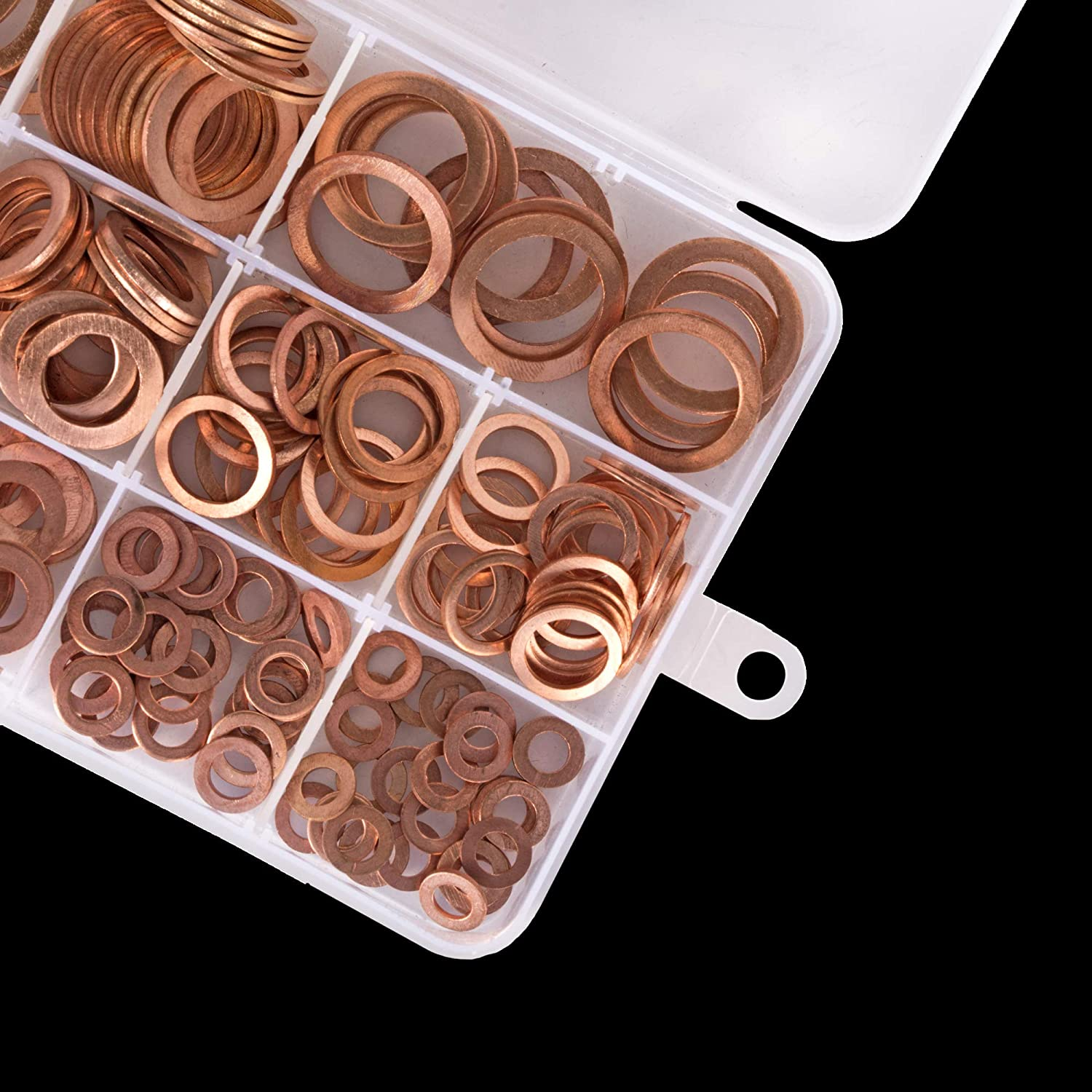 Workshop Buddy 300 Pcs Copper Washer Gasket Set Flat Washer Ring Assortment Kit M5 M12 M16 /& M20 M10 M14 M6.M8