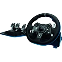 Logitech G920 Dual-Motor Feedback Driving Force Racing Wheel with Responsive Pedals for Xbox One & PC (Black)