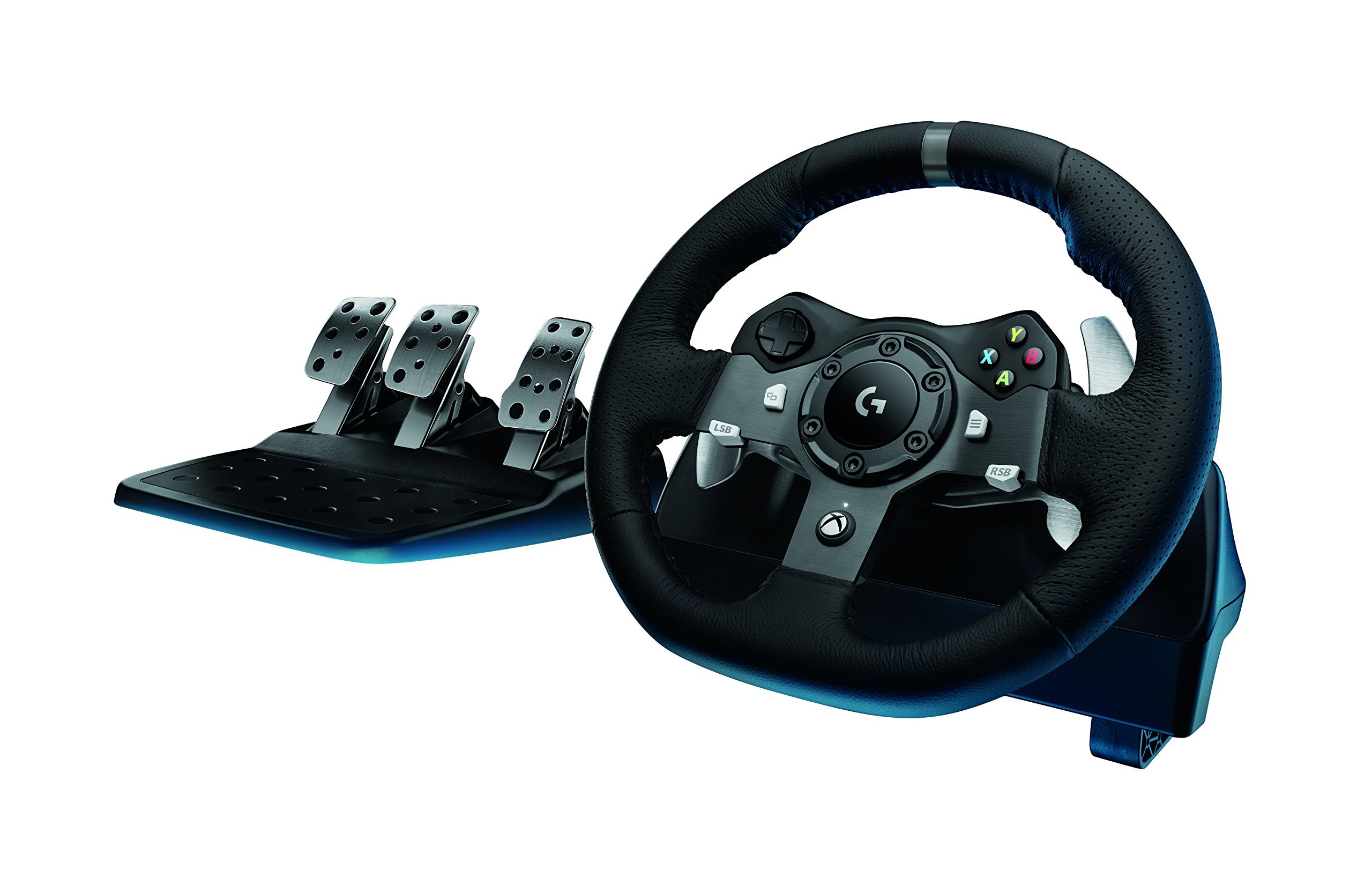 Logitech G920 Dual-motor Feedback Driving Force Racing Wheel with Responsive Pedals for Xbox One by Logitech