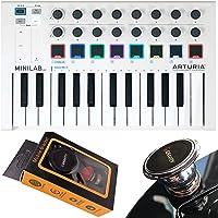 Arturia MiniLab MkII 25 Slim-Key Controller 25-Note 16 codificadores; 8 almohadillas USB Mini controlador de teclado con…