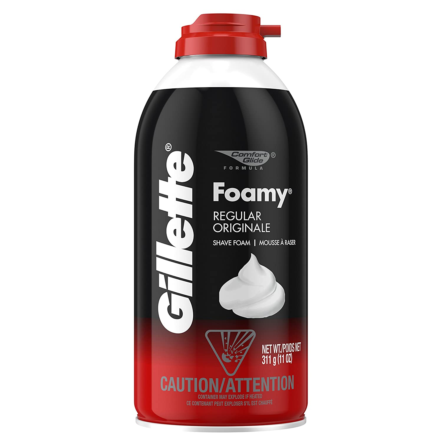 Gillette Foamy Shave Foam Original 11 Ounce (325ml) (2 Pack)