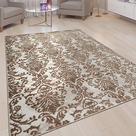 Amazon.de: Paco Home Orient Teppich Wohnzimmer Beige Nude Rosa