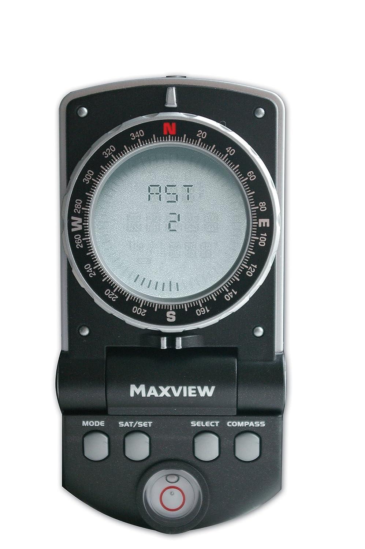 Maxview - Brújula satélite digital, color negro