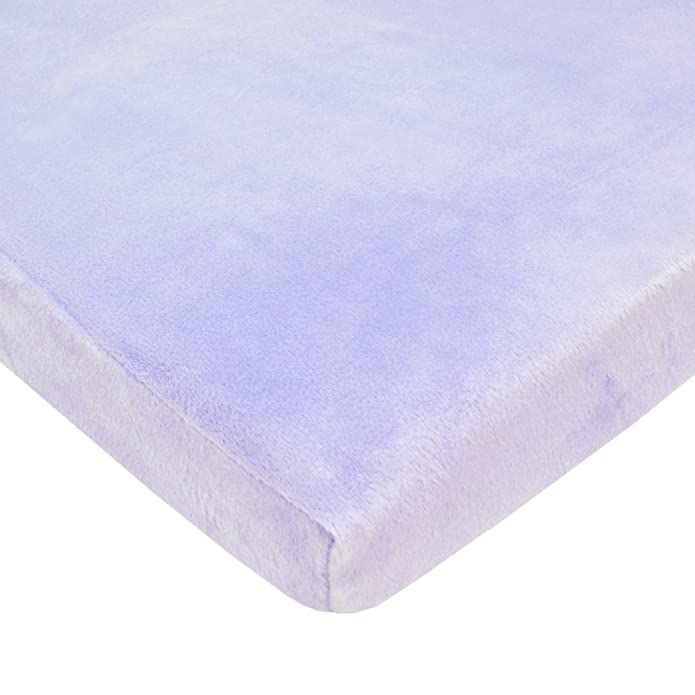 TL Care Heavenly Soft Chenille Mini Crib Sheet, Blue