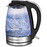Hamilton Beach Glass Electric Tea Kettle, Water Boiler & Heater, 1.7 L, Cordless, LED Indicator, Built-In Mesh Filter…